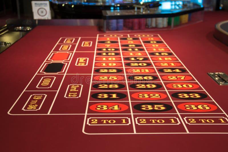 Rouletttabell i kasino royaltyfri fotografi