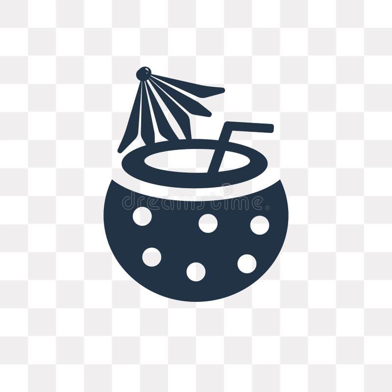 Roulez avec l'icône de vecteur de paille d'isolement sur le fond transparent, illustration libre de droits