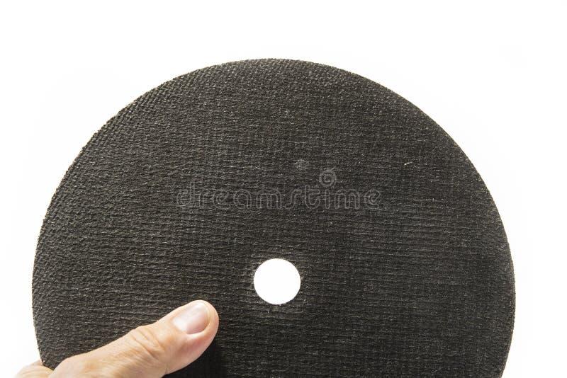 Roulez pour le métal cuting pour la broyeur sur le fond blanc photos libres de droits