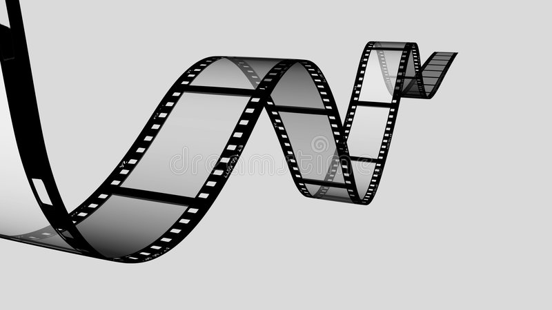 Roulis de film illustration stock