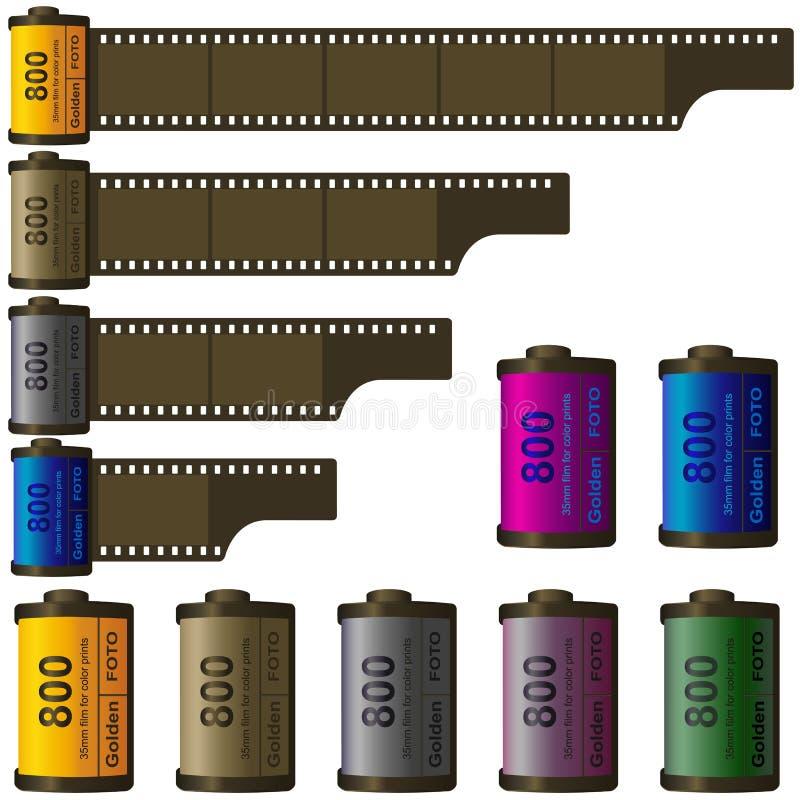 roulis de film de 35mm illustration de vecteur
