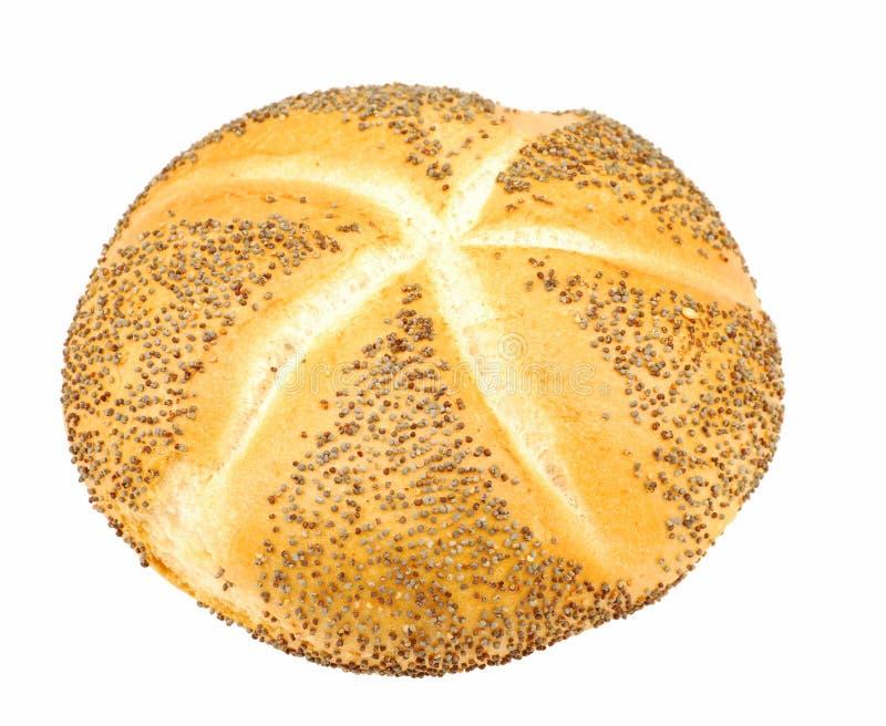 Roulis de pain de Kaiser avec le pavot images libres de droits