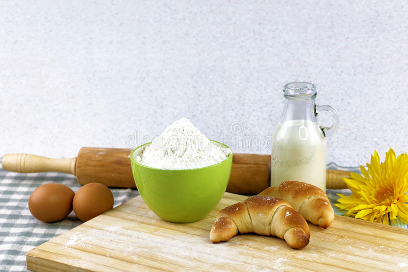 Roulis de pain frais images libres de droits
