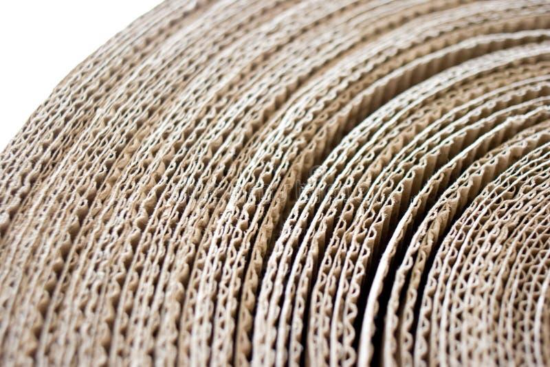 Roulis de papier ondulé photos stock