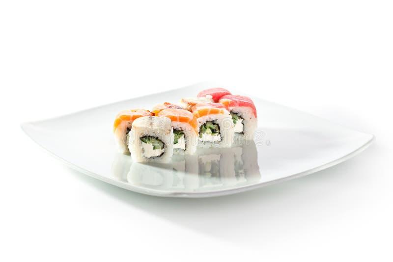 Roulis de sushi délicieux photo libre de droits