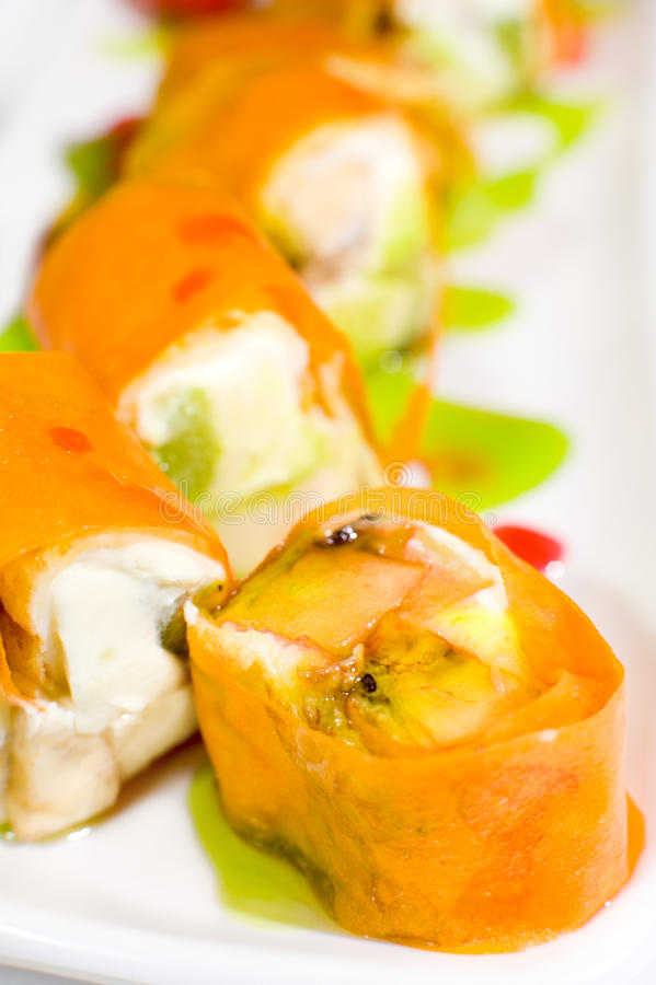 Roulis de sushi doux photo libre de droits