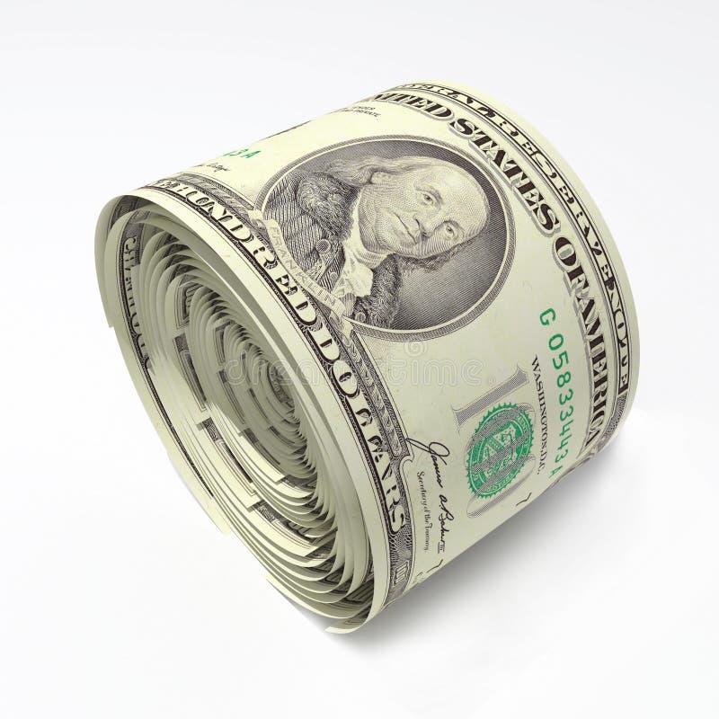 Roulis du dollar image libre de droits