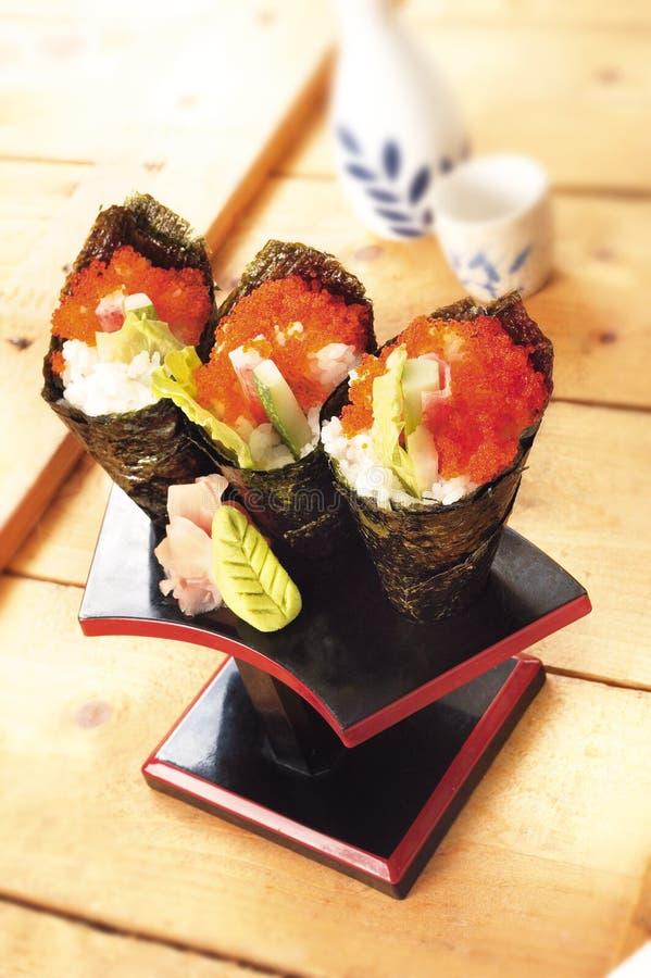 Roulis japonais de la Californie de nourriture photos libres de droits