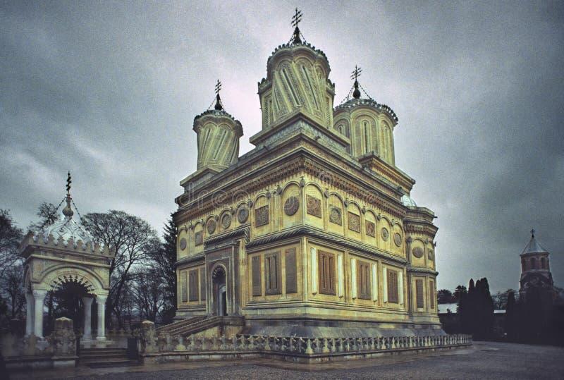Roumain orthodoxe de monastère d'église photos libres de droits