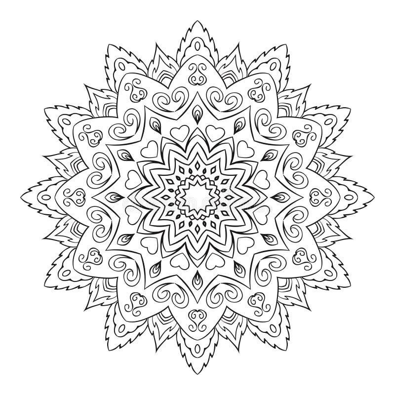 Roumd-Verzierung für Butike, Blumenladen, Geschäft, Innen Firmenkennzeichen, Emblem, Element Einfache geometrische Mandala vektor abbildung