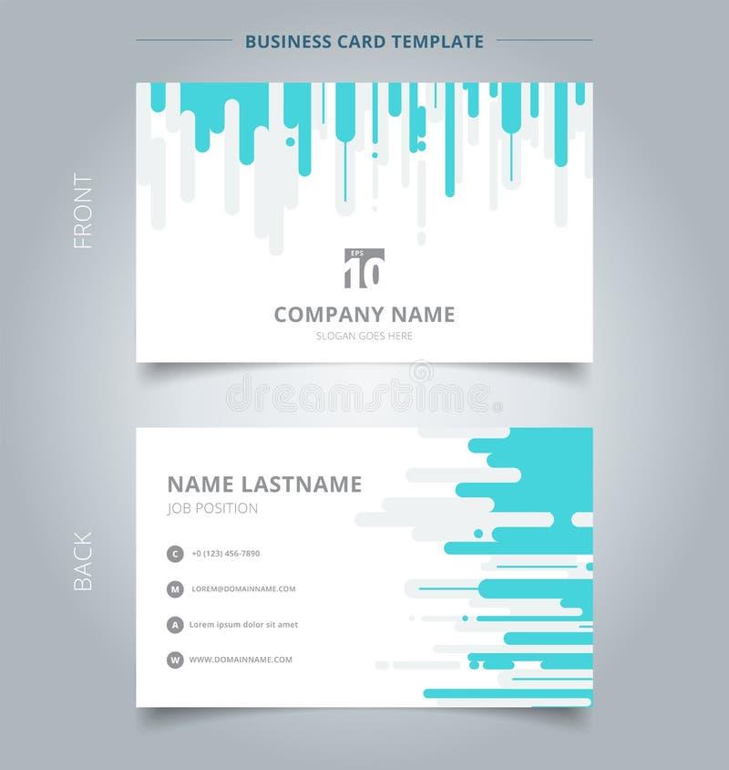 Roun bleu et gris créatif de calibre de carte de visite professionnelle et de carte nominative de visite illustration libre de droits