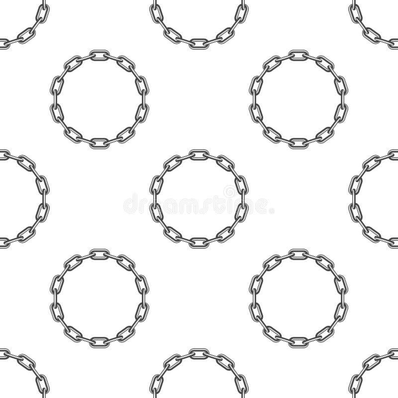Round łańcuszkowy tło royalty ilustracja