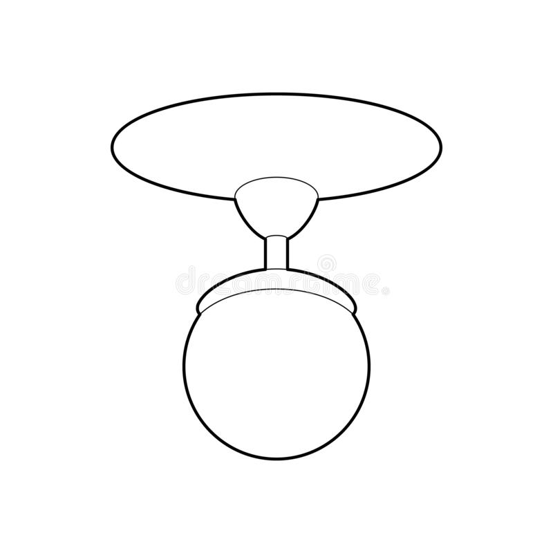 Round świecznik ikona, konturu styl zdjęcia royalty free