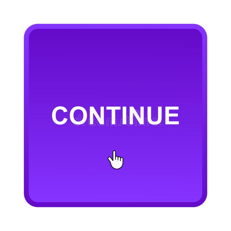 Continue button royalty free stock photo