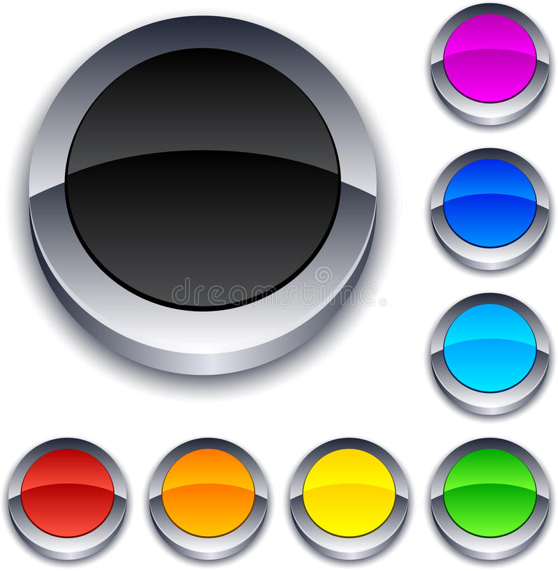 Free Round 3d Buttons. Royalty Free Stock Image - 18870736