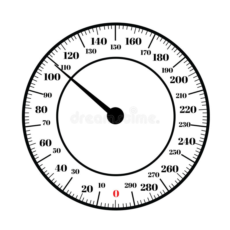 Round Analog Dial Interface Of Scale Stock Illustration
