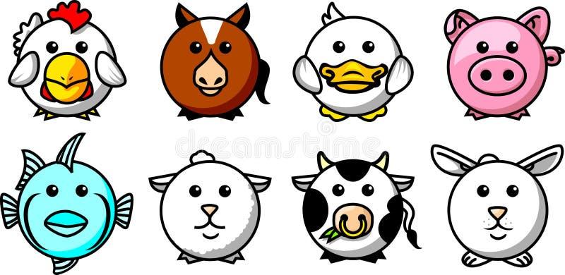Round animals 01 royalty free illustration