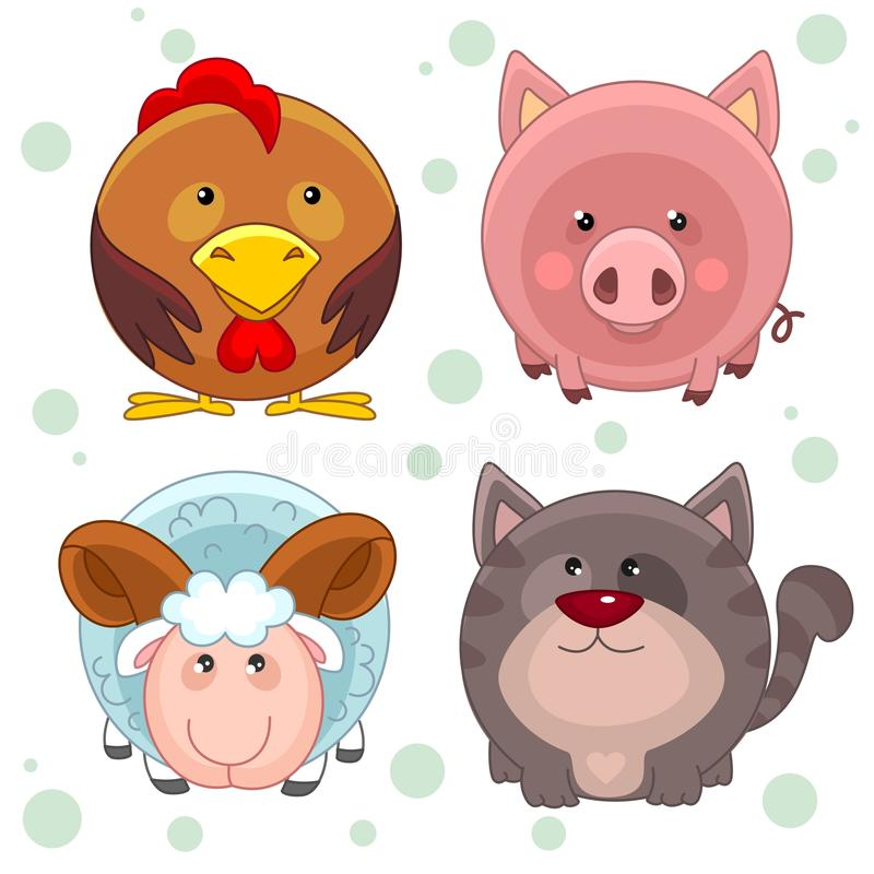 Free Round Animals, Part 2 Royalty Free Stock Photos - 130353558