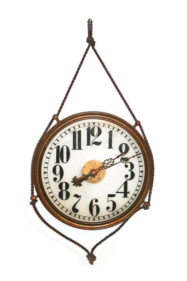 Download Round antique wall clock stock photo. Image of white - 24902578