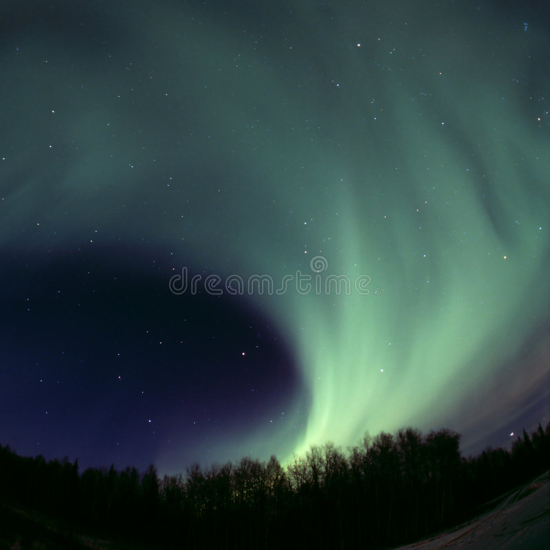 Round aurora rolling out royalty free stock image