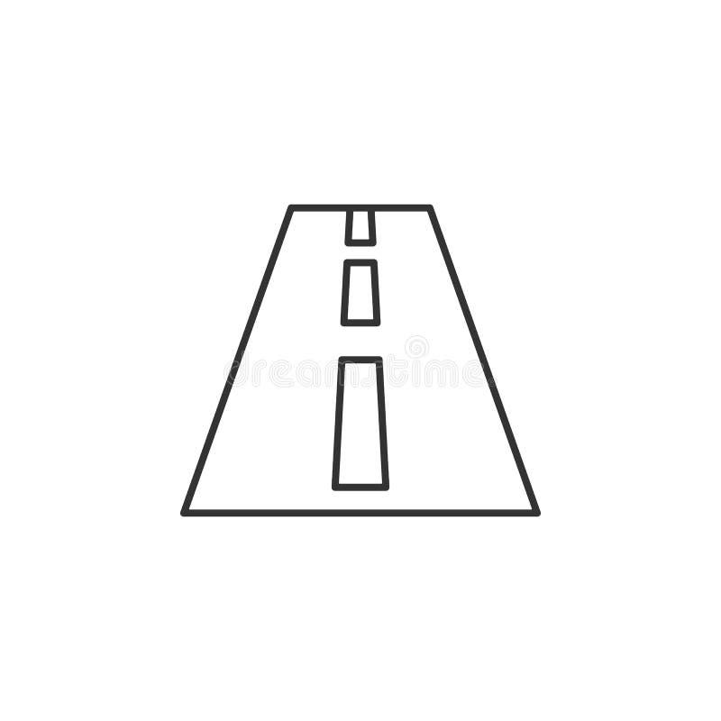 Round, autostrady kreskowa ikona Prosta, nowożytna płaska wektorowa ilustracja dla wiszącej ozdoby app, strona internetowa app lu ilustracja wektor