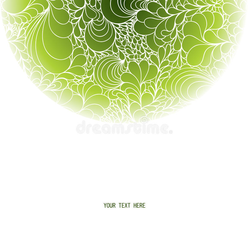 Download Round background stock illustration. Image of leaf, line - 28711207