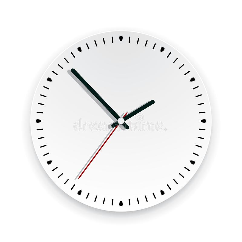 Wall clock face. vector. Round background illustration of a wall clock face with no numbers. time watch icon graphic design, showing about 2 o`clock. eps10 royalty free illustration