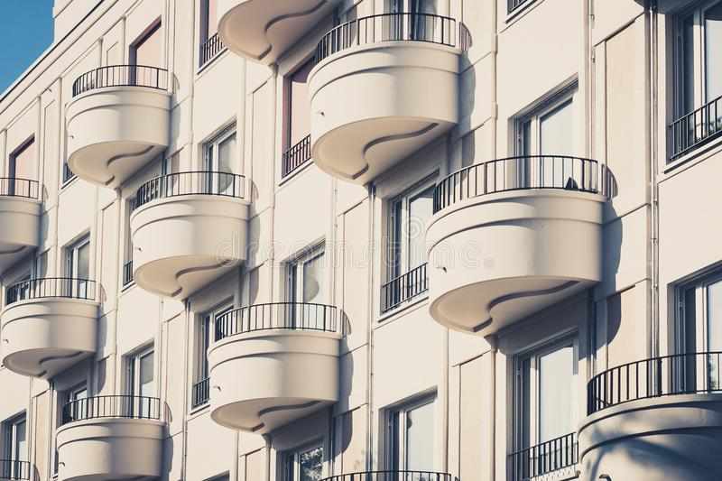 Download Round Balcony On Modern Apartment Building Facade Editorial Photo    Image Of Residential, Balcony