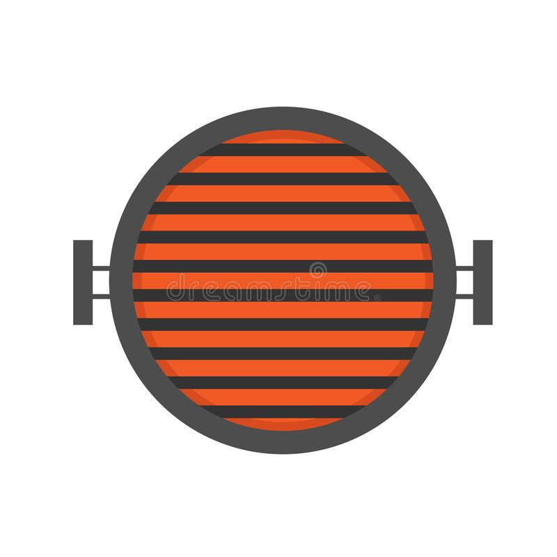 Round barbecue stove. Vector illustration. royalty free illustration