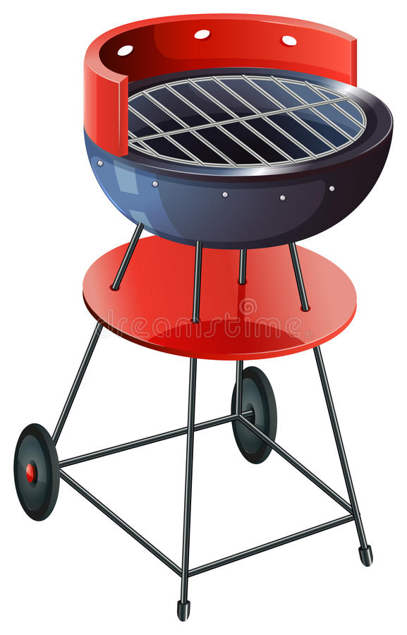 A round barbeque grill vector illustration