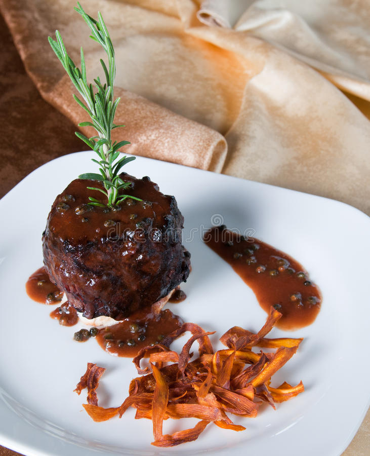 Download Round beef steak stock image. Image of course, brunch - 16150655