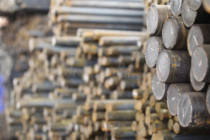 Round billet rods. Round billet in the rod as a basis for future redistribution royalty free stock images