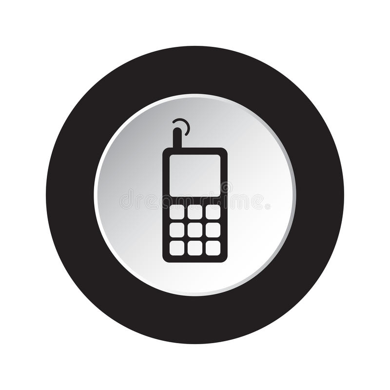 Download Round Black, White Button - Old Mobile Phone Stock Vector - Illustration of panel, object: 96565820