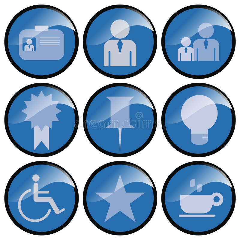 Download Round Blue Icon Buttons stock illustration. Image of icons - 2313534