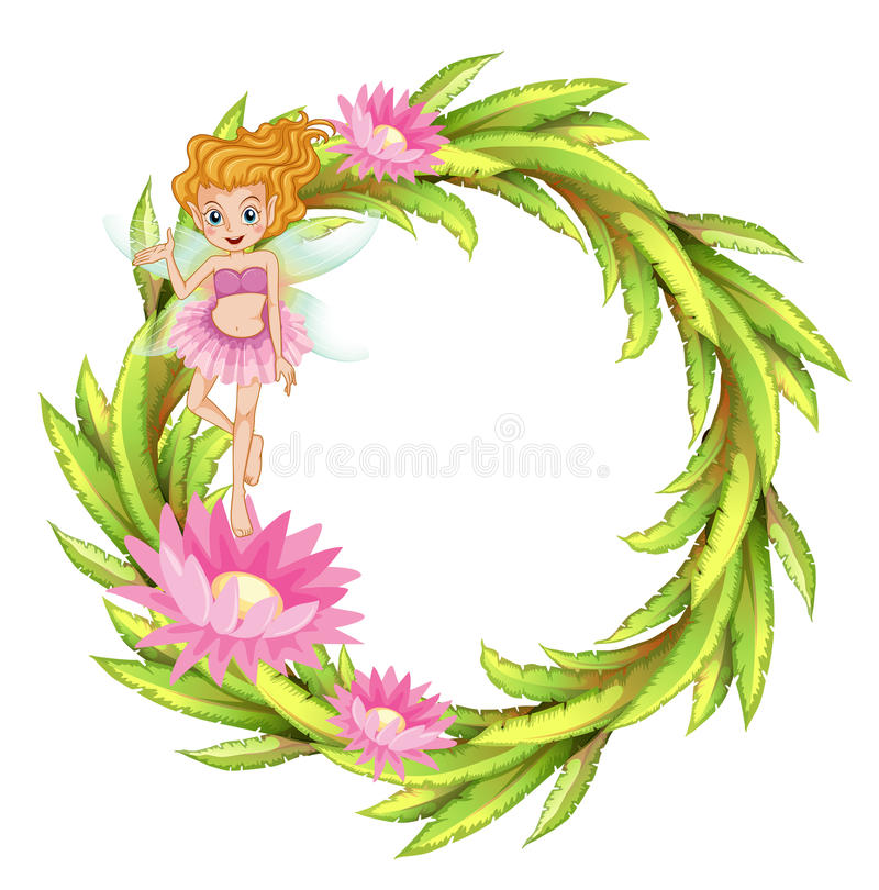 Download A Round Border Design With A Fairy Stock Vector - Image: 32201753