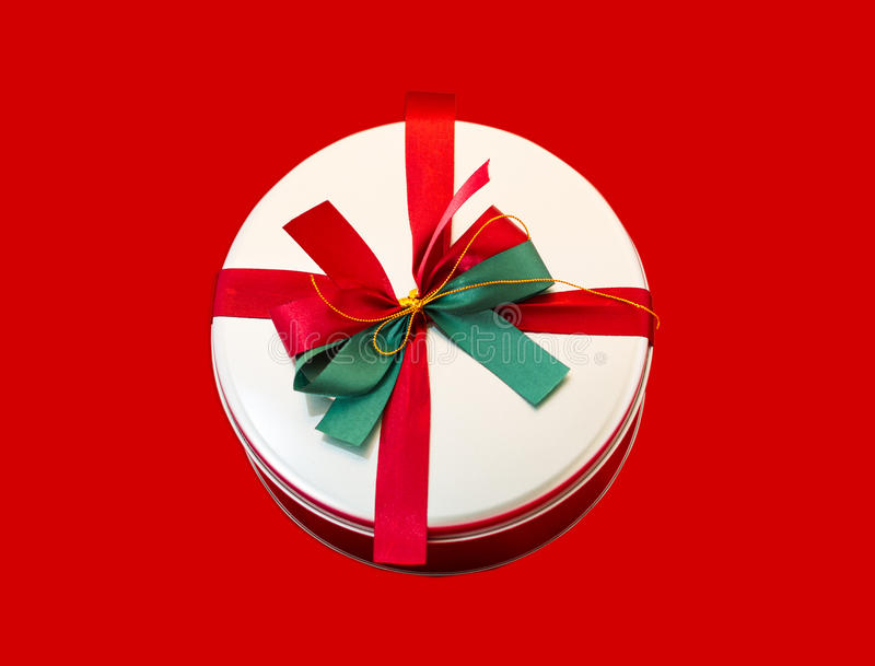 Download Round box present stock photo. Image of christmas, wrap - 37423178