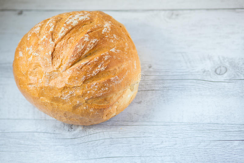 Round bread stock photo