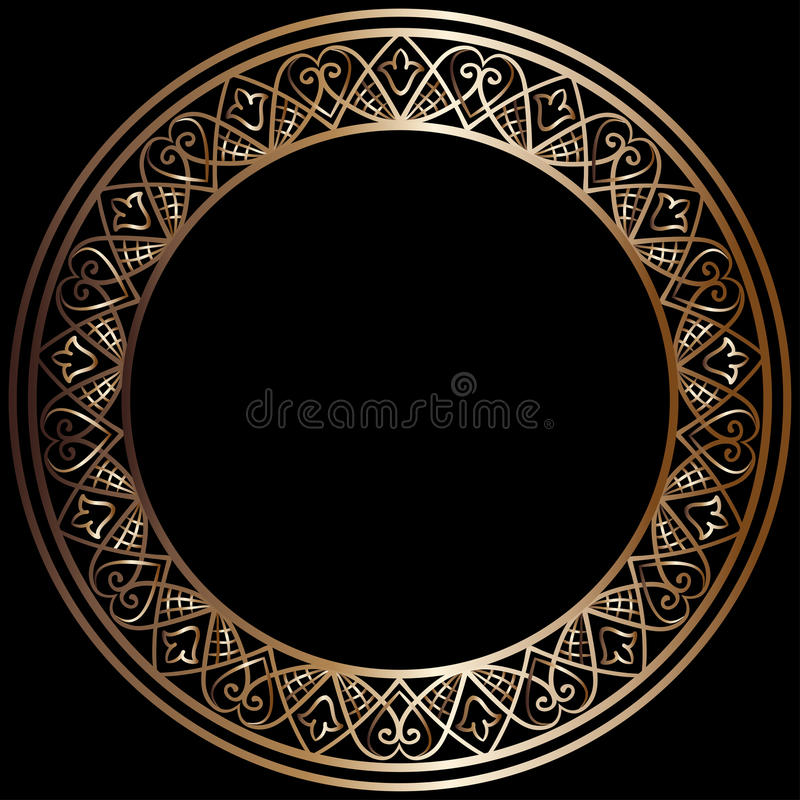 Free Round Bronze Frame Royalty Free Stock Images - 74047749