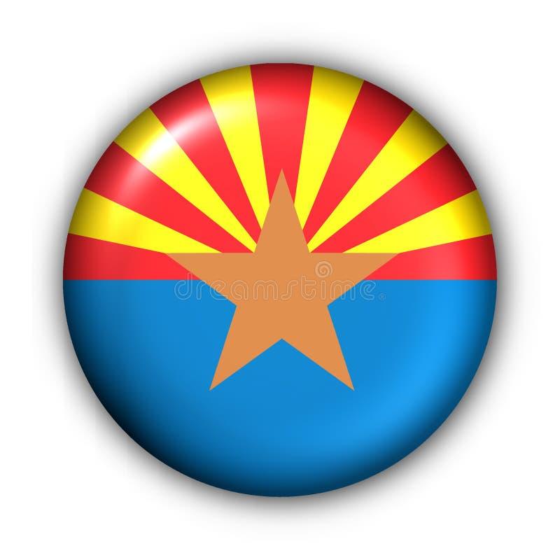 Round Button USA State Flag Of Arizona Royalty Free Stock Image