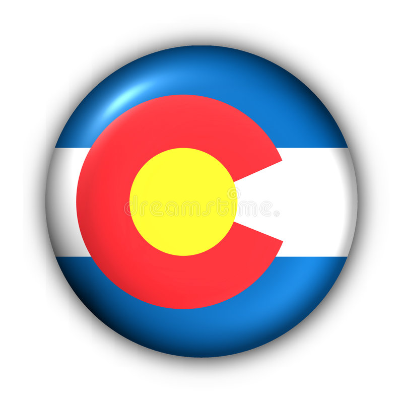 Download Round Button USA State Flag Of Colorado Stock Photo - Image of american, button: 4963636