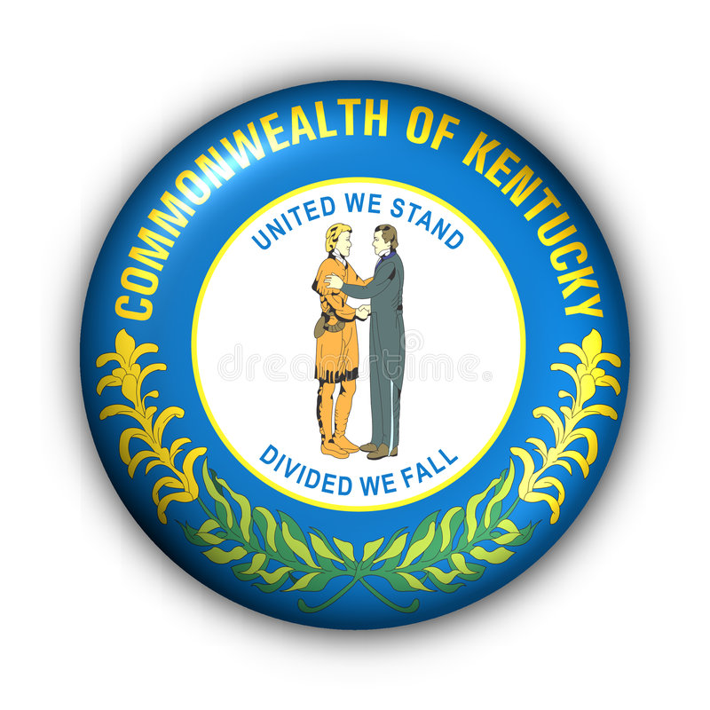 Download Round Button USA State Flag Of Kentucky Stock Illustration - Image: 5043991