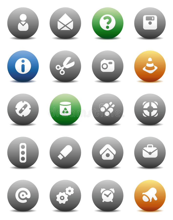 Download Round Buttons Miscellaneous Stock Vector - Illustration of illustration, data: 10755561