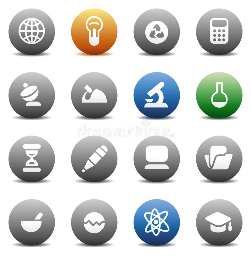 Download Round buttons for science stock vector. Illustration of recycle - 10755566