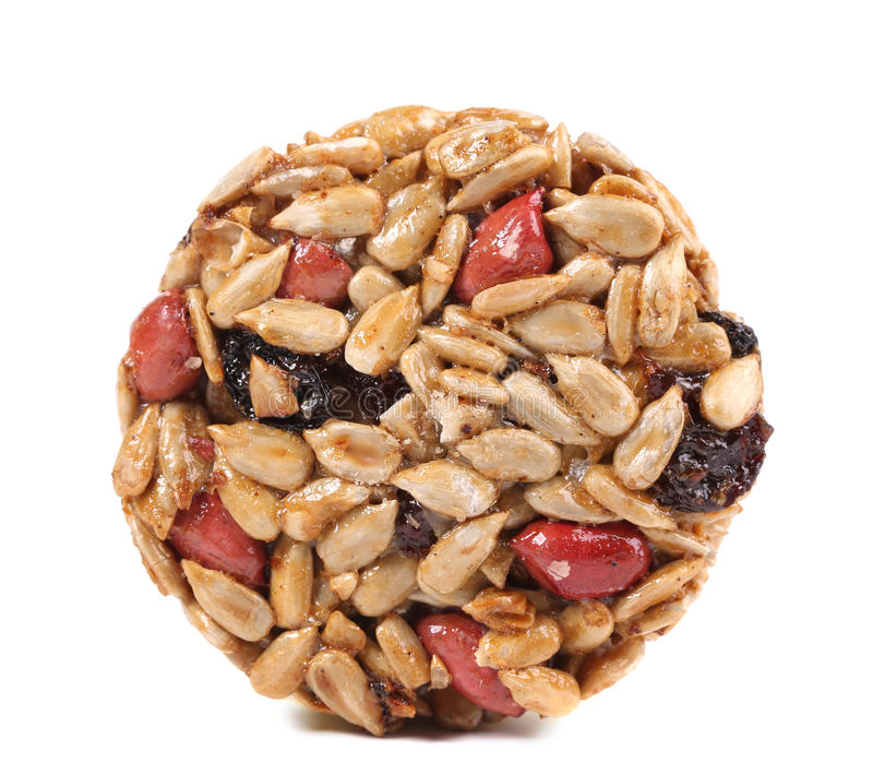Round candied seeds and nuts. royalty free stock photo
