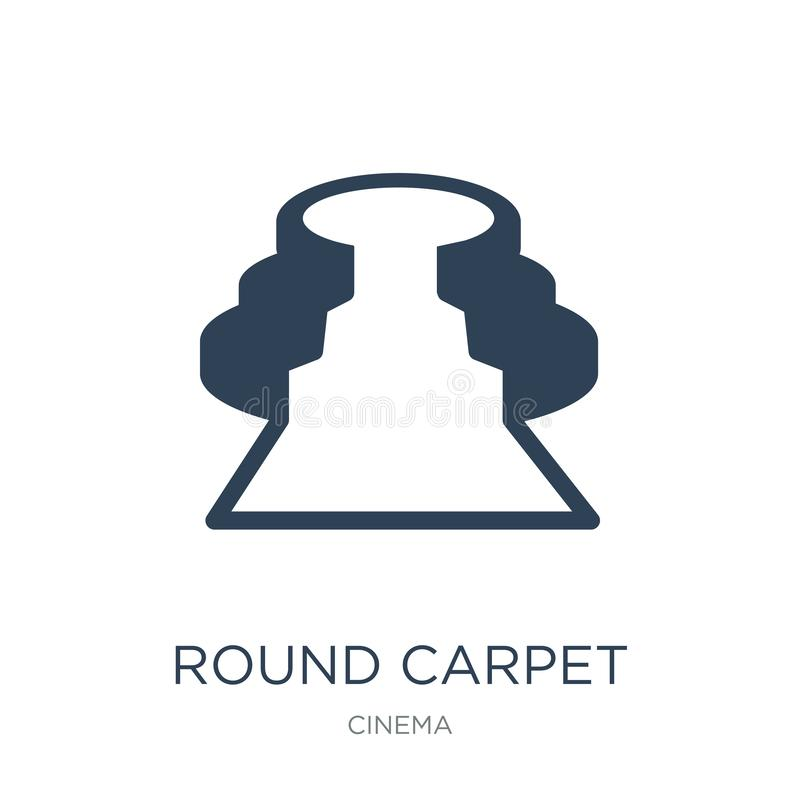 round carpet icon in trendy design style. round carpet icon isolated on white background. round carpet vector icon simple and stock illustration