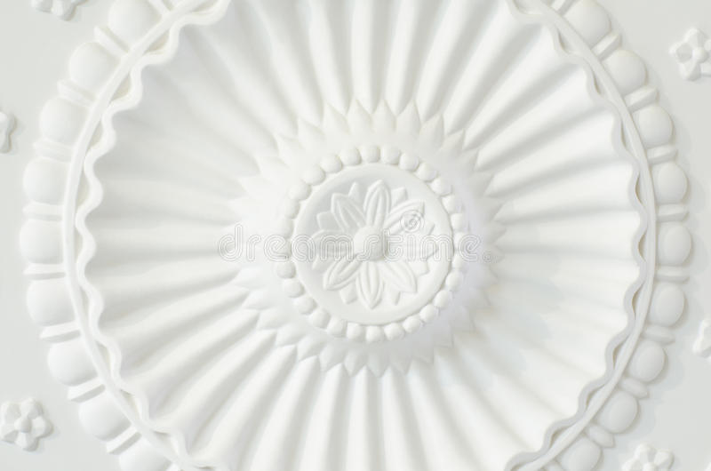 Round ceiling plate royalty free stock photography