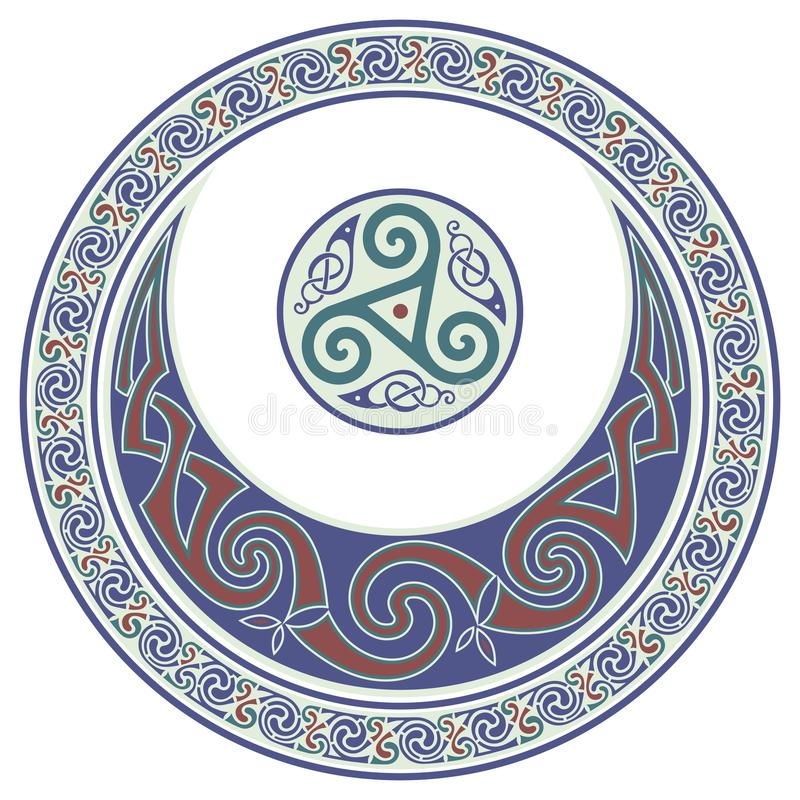 Download Round Celtic Design. Celtic Mandala Stock Vector - Illustration of dream natur  sc 1 st  Dreamstime.com & Round Celtic Design. Celtic Mandala Stock Vector - Illustration of ...