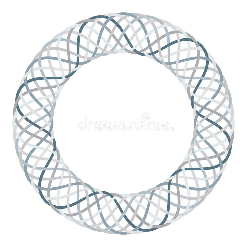 Round celtic knots frame. Traditional medieval frame pattern illustration. Scandinavian ornament as border or frame. stock illustration