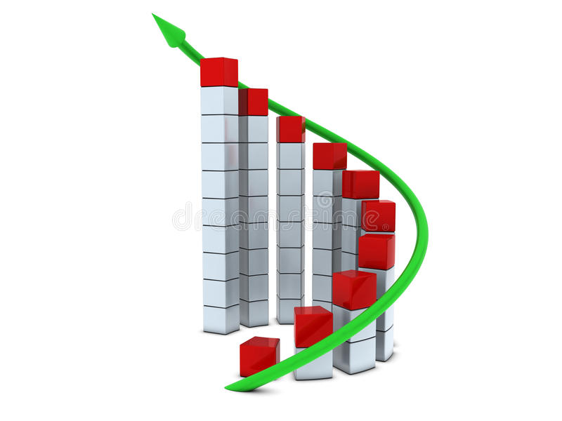 Download Round chart with arrow stock illustration. Image of commerce - 12762191