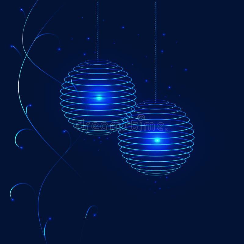 Round Chinese lanterns royalty free stock photo